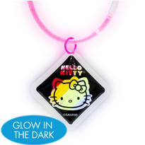 Hello Kitty Necklace with Glow Pendant