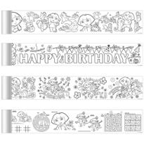 Dora the Explorer Mini Coloring Banners 4ct