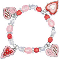 Valentines Heart Charm Bracelet