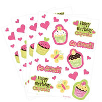 Cupcake Party Stickers 4 Sheets