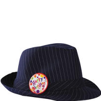 Striped Happy Birthday Fedora