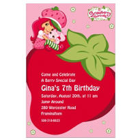 Strawberry Shortcake Custom Invitation