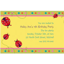 Lady Bug Custom Invitation