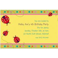 Lady Bug Custom Invitation