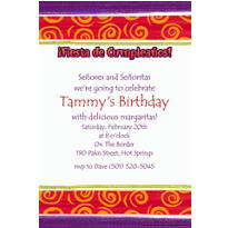 Birthday Cumpleanos Custom Invitation