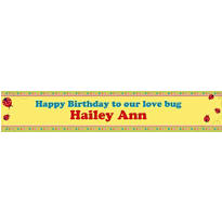 Lady Bug Custom Banner 6ft