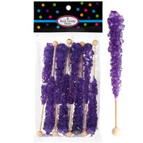 Purple Rock Candy Sticks 8ct