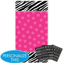 Zebra Party Personalize It Door Decorating Kit 4pc