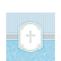 Blue Communion Blessings Lunch Napkins 16ct