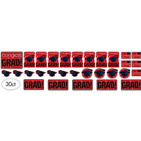 Red Graduation Cutouts 30ct