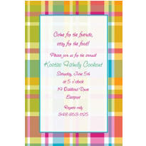 Summer Plaid Custom Invitation