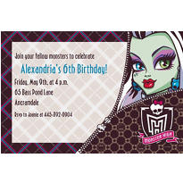Monster High Custom Invitation