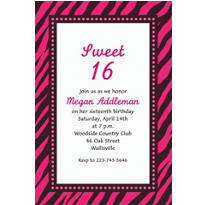 Oh So Fabulous Custom Invitation