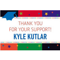 Custom Bright Grad Thank You Notes