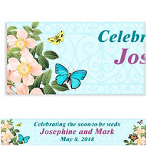 Custom Butterfly Dreams Wedding Banner 6ft