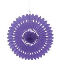 Purple Paper Fan Decoration 16in