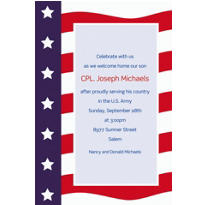 All American Welcome Home Custom Invitation