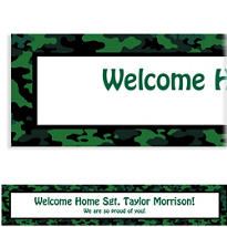 Camouflage Welcome Home Custom Banner