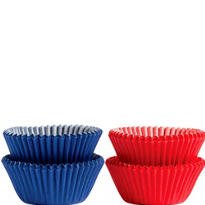 Mini Red and Blue Baking Cups 100ct