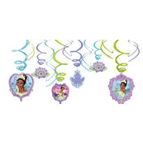 Princess and the Frog Swirl Decorations 12ct