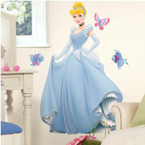 Giant Cinderella Wall Decal 40in