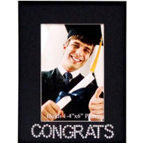 Congrats Bling Graduation Photo Frame 10in x 8in