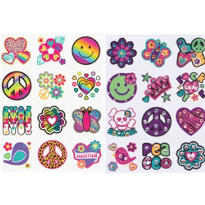 Neon Groovy Body Art 24pc