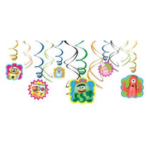 Yo Gabba Gabba Swirl Decorations 12ct
