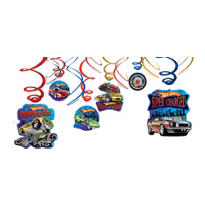 Hot Wheels Swirl Decorations 12ct