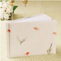 Flower Press Wedding Guest Book