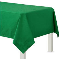 Festive Green Paper Table Cover
