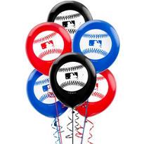Latex Rawlings Baseball Balloons 12in 6ct