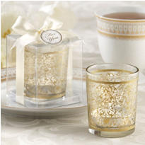 Golden Renaissance Tea Light Holder Wedding Favor