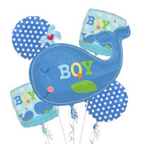 Ahoy Baby Boy Baby Shower Balloon Bouquet 5pc