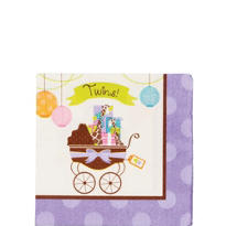 Modern Mommy Twins Beverage Napkins 16ct