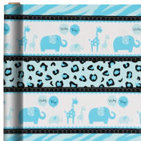 Blue Safari Gift Wrap 5ft
