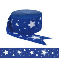Royal Blue Star Streamer