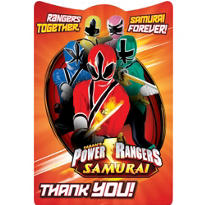 Power Rangers Thank You Notes 8ct