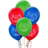 Latex Power Rangers Balloons 12in 6ct
