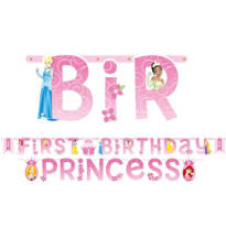 Disney Princess 1st Birthday Banners 2ct