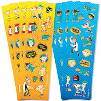 Phineas and Ferb Stickers 8 Sheets