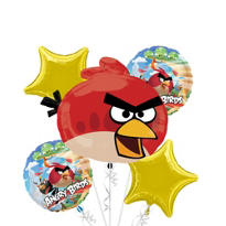 Angry Birds Balloon Bouquet 5pc