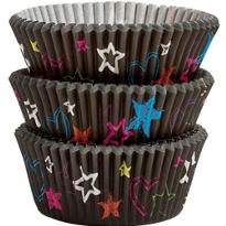 Neon Groovy Baking Cups 75ct