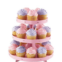 Pink Cupcake Stand 10in