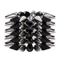 Black & Silver Spike Bracelet