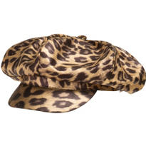 Hot Leopard Print Newsboy Hat