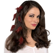 Burgundy Feather Hair Extension