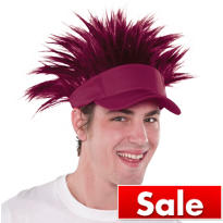 Burgundy Spikey Hair Visor