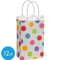 Colorful Dot Mini Gift Bag 12ct