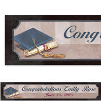 Framed Cap and Diploma Custom Banner 6ft